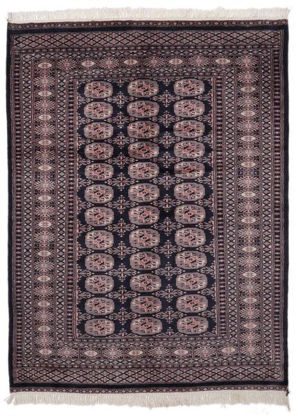 パキスタン ブハラ 2Ply 絨毯 139X186 オリエンタル 手織り 黒/深紅色の (ウール, パキスタン)