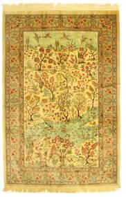 クム シルク 画像/絵 絨毯 131X198 オリエンタル 手織り (絹, ペルシャ/イラン)