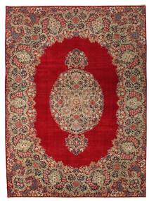 ケルマン パティナ 絨毯 277X374 オリエンタル 手織り 深紅色の/薄茶色 大きな (ウール, ペルシャ/イラン)