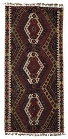 キリム Malatya 絨毯 186X391 オリエンタル 手織り 濃い茶色/薄茶色 (ウール, トルコ)
