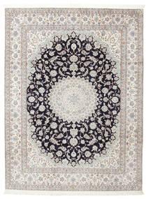 ナイン 6La 署名: Habibian 絨毯 205X271 オリエンタル 手織り (ウール/絹, ペルシャ/イラン)