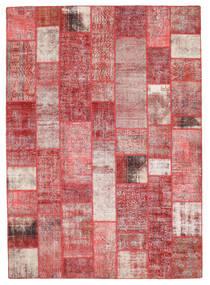 パッチワーク 絨毯 256X359 モダン 手織り ライトピンク/茶 大きな (ウール, トルコ)