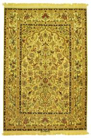 イスファハン シルク 経糸 画像/絵 署名: Nasr 絨毯 142X210 オリエンタル 手織り (ウール/絹, ペルシャ/イラン)