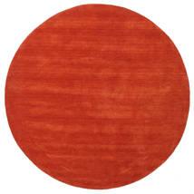 ハンドルーム - 錆色/赤 絨毯 Ø 250 モダン ラウンド 錆色 大きな (ウール, インド)