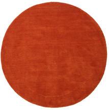 ハンドルーム - 錆色/赤 絨毯 Ø 150 モダン ラウンド 錆色 (ウール, インド)