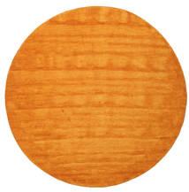 ハンドルーム - オレンジ 絨毯 Ø 300 モダン ラウンド 黄色/オレンジ/薄茶色 大きな (ウール, インド)