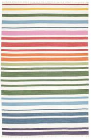 Rainbow Stripe - 白 絨毯 200X300 モダン 手織り ホワイト/クリーム色 (綿, インド)
