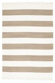 コットン Stripe - 茶 絨毯 160X230 モダン 手織り 薄い灰色/ホワイト/クリーム色 (綿, インド)