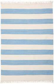 コットン Stripe - 薄い 青 絨毯 160X230 モダン 手織り 水色/ベージュ (綿, インド)
