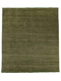 ハンドルーム Fringes - グリーン 絨毯 250X300 モダン オリーブ色 大きな (ウール, インド)