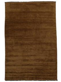 ハンドルーム Fringes - 茶 絨毯 200X300 モダン 茶 (ウール, インド)