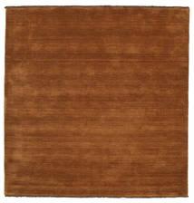 ハンドルーム Fringes - 茶 絨毯 200X200 モダン 正方形 茶/濃い茶色 (ウール, インド)