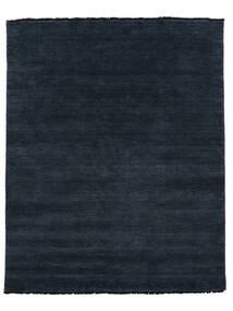 ハンドルーム Fringes - 紺色の 絨毯 200X250 モダン 黒 (ウール, インド)