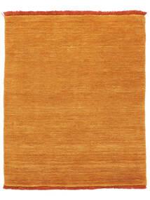 ハンドルーム Fringes - オレンジ 絨毯 200X250 モダン オレンジ/薄茶色 (ウール, インド)