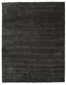 ハンドルーム Fringes - 黒/グレー 絨毯 200X250 モダン 濃いグレー/黒 (ウール, インド)