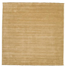 ハンドルーム Fringes - ベージュ 絨毯 250X250 モダン 正方形 暗めのベージュ色の/薄茶色 大きな (ウール, インド)