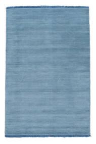 ハンドルーム Fringes - 水色 絨毯 80X120 モダン 水色/青 (ウール, インド)