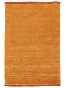ハンドルーム Fringes - オレンジ 絨毯 140X200 モダン オレンジ/薄茶色 (ウール, インド)