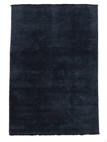 ハンドルーム Fringes - 紺色の 絨毯 140X200 モダン 紺色の/青 (ウール, インド)