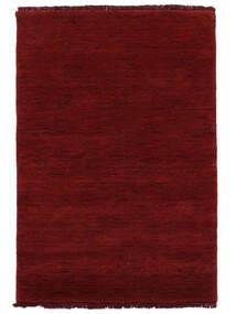 ハンドルーム Fringes - 深紅色の 絨毯 140X200 モダン 赤 (ウール, インド)
