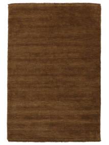 ハンドルーム Fringes - 茶 絨毯 140X200 モダン 茶 (ウール, インド)