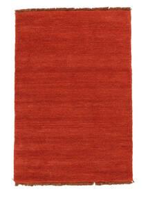 ハンドルーム Fringes - 錆色/赤 絨毯 140X200 モダン 錆色 (ウール, インド)