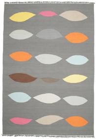 Leaves - グレー 絨毯 220X320 モダン 手織り 濃いグレー/薄い灰色 (ウール, インド)