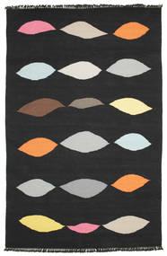 Leaves - 黒 絨毯 190X290 モダン 手織り 黒 (ウール, インド)
