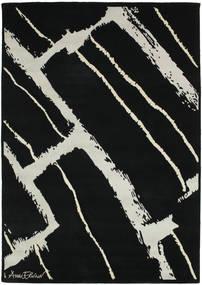 Power 絨毯 155X220 モダン 手織り 黒/薄い灰色 (ウール, インド)