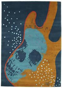 From Obscure Rythms 絨毯 135X190 モダン 手織り 紺色の/茶 (ウール, インド)