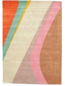 Dynamic Handtufted - ピンク 絨毯 140X200 モダン ライトピンク/ベージュ (ウール, インド)