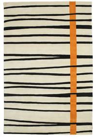 Gummi Twist Handtufted - オレンジ 絨毯 200X300 モダン 暗めのベージュ色の/黒 (ウール, インド)