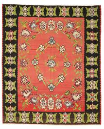 キリム セミアンティーク 絨毯 260X305 オリエンタル 手織り 赤/濃いグレー 大きな (ウール, スロベニア)