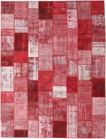 パッチワーク 絨毯 302X399 モダン 手織り 赤/ライトピンク 大きな (ウール, トルコ)
