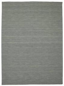 キリム ルーム - 濃いグレー 絨毯 250X350 モダン 手織り 薄い灰色/深緑色の 大きな (ウール, インド)