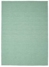キリム ルーム - Mint グリーン 絨毯 250X350 モダン 手織り パステルグリーン/ターコイズブルー 大きな (ウール, インド)