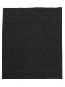 キリム ルーム - 黒 絨毯 250X300 モダン 手織り 黒 大きな (ウール, インド)