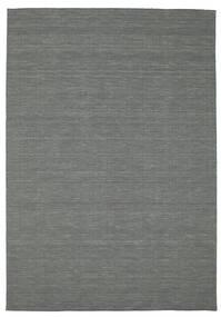 キリム ルーム - 濃いグレー 絨毯 200X300 モダン 手織り 深緑色の (ウール, インド)