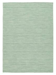 キリム ルーム - Mint グリーン 絨毯 140X200 モダン 手織り パステルグリーン/ターコイズブルー (ウール, インド)
