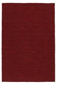 キリム ルーム - 深紅色の 絨毯 120X180 モダン 手織り 赤 (ウール, インド)