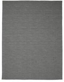 キリム ルーム - 濃いグレー 絨毯 300X400 モダン 手織り 深緑色の/薄い灰色 大きな (ウール, インド)