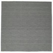 キリム ルーム - 濃いグレー 絨毯 300X300 モダン 手織り 正方形 深緑色の/薄い灰色 大きな (ウール, インド)