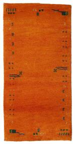 ギャッベ インド 絨毯 72X143 モダン 手織り オレンジ/錆色 (ウール, インド)