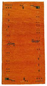 ギャッベ インド 絨毯 71X140 モダン 手織り オレンジ/薄茶色 (ウール, インド)
