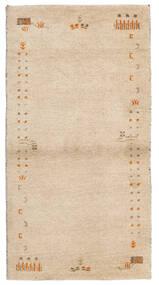 ギャッベ インド 絨毯 74X141 モダン 手織り ベージュ (ウール, インド)