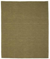 キリム ルーム - オリーブ 絨毯 250X300 モダン 手織り オリーブ色 大きな (ウール, インド)