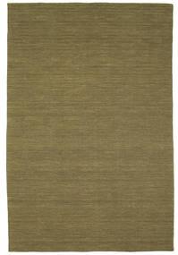 キリム ルーム - オリーブ 絨毯 200X300 モダン 手織り オリーブ色 (ウール, インド)