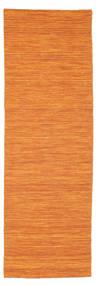 キリム ルーム - オレンジ 絨毯 80X250 モダン 手織り 廊下 カーペット オレンジ (ウール, インド)
