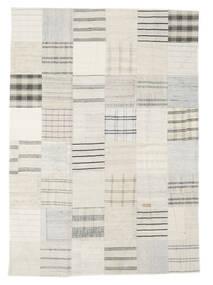 キリム パッチワーク 絨毯 171X240 モダン 手織り ベージュ/ホワイト/クリーム色 (ウール, トルコ)