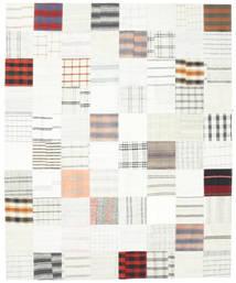 キリム パッチワーク 絨毯 250X304 モダン 手織り ホワイト/クリーム色/ベージュ 大きな (ウール, トルコ)